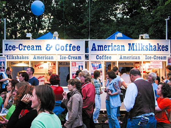 American Ice-Cream Stand auf Veranstaltungen